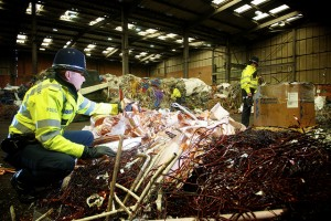 Police in Metal scrap-West Midlands Police